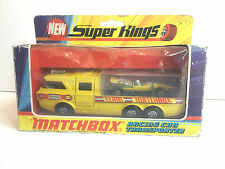 Matchbox Super Kings K-7 Racing Car Transporter. 1972 STP Firestone  Very Good