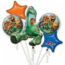 Disney The Good Dinosaur Arlo Birthday 5CT Foil Balloon Bouquet Party Supplies~