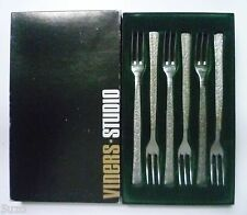 VINERS stainless 'STUDIO' DESSERT FORKS x 6 Boxed. Gerald Benney 1960s Sheffield