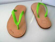 flip*flop lea sole das Original neon grün 37  thongs sandals Zehentrenner apple