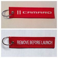 Camaro Chevy SS RS ZR1 COPO Keychain Fob Remote REMOVE BEFORE LAUNCH RED