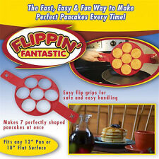 Non Stick Flippin' Fantastic Nonstick Pancake Maker Egg Ring Maker Kitchen FW