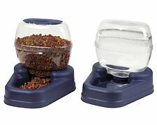 PET CAT DOG Automatic Dispenser Feeder Food and Water Bowel Large Combo