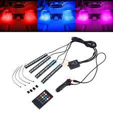 12 LED 7 Colorful Remote Control Ambient Foot well Lighting Car Interior Parking