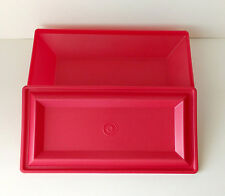 Tupperware Red Get Together Table Accessory Buffet Dinner Storage Tray Server