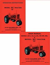 COMBO ALLIS CHALMER WD-45 Tractor  Operator Manual WD45 / Service manual