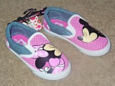 Minnie Mouse Disney Girls Toddler Slip On Shoes Pink & Gray Size 11