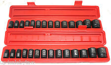 TEKTON 30pc 1/2in Drive Shallow Impact Socket Set SAE/METRIC Warranty -PRO GRADE