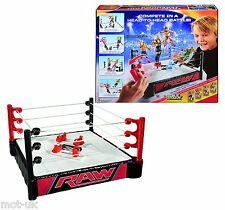 WWE doppio attacco Wrestling Ring Total Control TAKEDOWN RAW Playset NUOVO MATTEL