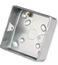 Legrand 1 Gang Surface Mounting Metal Back Box with Knockouts (More Available)