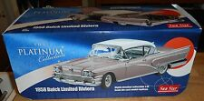 SUNSTAR PLATINUM 1:18 DIECAST 1958 BUICK LIMITED RIVIERA COUPE WITH ORIGINAL BOX