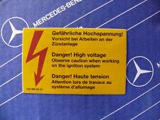 """Mercedes Air Filter Sticker """"High Voltage"""" W123 W124 W126 Vintage! 1990s Origin!"""