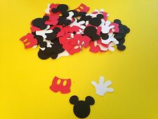 100 Mickey Mouse Glove Pants Die Cut Punch Cutout Confetti Embellishment