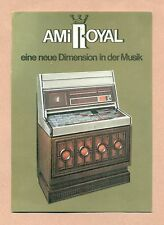 CARTE POSTALE PUBLICITAIRE - JUKEBOX AMIROYAL - JUKE BOX EL CAMINO -