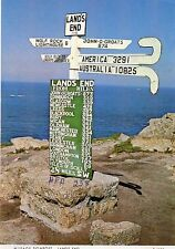Postcard MILEAGE SIGNPOST, LAND'S END, CORNWALL  (Ref: 250)
