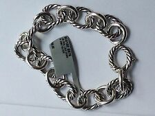 NEW DAVID YURMAN STERLING SILVER LARGE OVAL LINK BRACELET