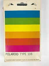 Polaroid Type 108 Polacolor Land Film UNSEALED Package 8 Prints Expired 1/87