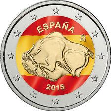 """Spanien - 2 Euro 2015 """"Höhle von Altamira"""" in Farbe - Bankfrisch in Kapsel"""