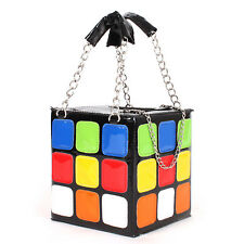 Korea Lady's Cosmetic Bag Single Shoulder Bag Women's Leisure Handbag Rubik's