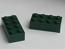 LEGO DkGreen bricks 2x4 ref 3001 / Set 10185 7626 7036 7255 10211 10133 7782 ...