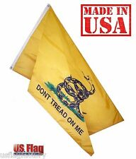 3'x5' Gadsden DONT TREAD ON ME Outdoor SolarMax Nylon Flag Grommets (935Gadsden)