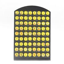 36 Pairs Funny EMOJI Smile Emoticons Cabochon Earrings Stud For Women Wholesale