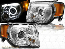 08-12 Ford Escape XLT XLS Limited DRL Strip Halo LED Projector Headlights Chrome