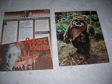 BANTHA TRACKS STAR WARS FAN CLUB 1984 #24 EWOK POSTER WICKET LUCASFILMS