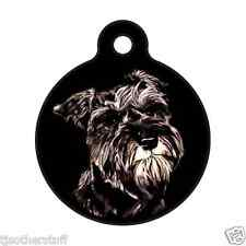 Schnauzer-Custom Personalized Pet ID Tag for Dog & Cat Collars