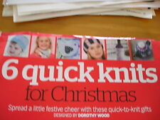 KNITTING PATTERNS FOR CHRISTMAS. BY DOROTHY WOOD.
