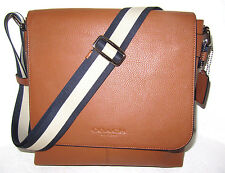 Coach F72108 Men's Sullivan Messenger Bag Saddle Leather New Authentic  NWT $375