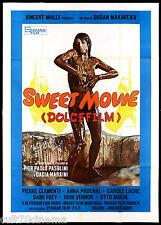 SWEET MOVIE - DOLCE FILM MANIFESTO CINEMA CAROL LAURE SEXY 1974 MOVIE POSTER 4F