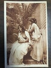 Vintage Postcard Two Arab Girl Nude Breast Au Harem Circa early 1900's