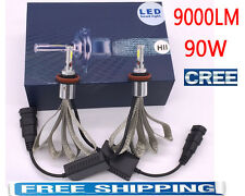 90W 9000LM LED headlight bulb light lamp kit H1 H4 H7 H11 9005 9006 white 6000K