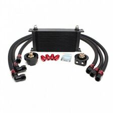 19 Row Oil Cooler Kit w/ oil filter relocation kit Fit Mazda 3Miata MX5 RX7 RX8