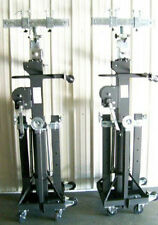Pair Global Truss ST 180 Heavy Duty Crank Stands ST180 w/ STSB-006 Adapters!