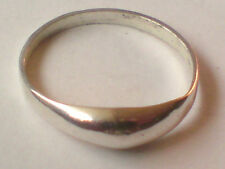 STERLING SILVER PLAIN BAND RING UK.sizes L, M & N..EUR sizes 51,52,53  £7.50 NWT
