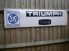 Triumph TR6 - Leyland Cars workshop banner