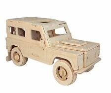 LAND Rover Woodcraft Construction Kit-CAR 3d in Legno Modello Puzzle Bambini/Adulti