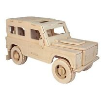 Land Rover Woodcraft Construction Kit- Car 3D Wooden Model Puzzle KIDS/ADULTS