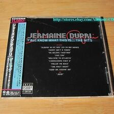 Jermaine Dupri - Y'All Know What This Is...The Hits JAPAN CD W/OBI #09-3