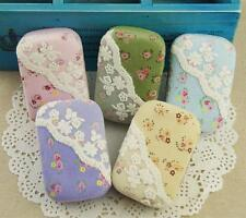 Fashion Flowers Travel Contact Lens Case Soak Storage Box Holder Mirror Tweezer