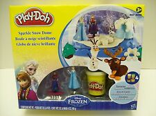 Play-Doh Disney Frozen Sparkle Snow Dome Set with Elsa and Anna NEW/Sealed