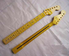New Maple 22 Fret Guitar Neck parts Yellow Polishing For style ST Stratocaster