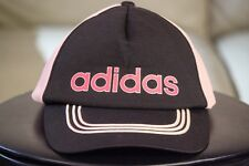vtg Adidas trucker hat black/pink 57-60