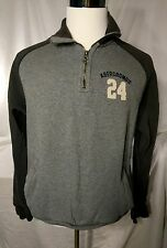 Mens Abercrombie & Fitch Quarter Zip Grey Sweatshirt Size large L
