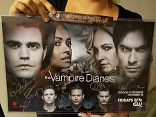 SDCC 2016 WB Vampire Diaries SIGNED Cast Paul Wesley Poster 11x17 Comic-Con