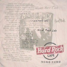 Hard Rock Cafe Hong Kong T-Shirt XXL Slim Fit Stitched Applique Panels Black