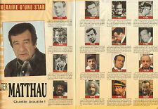 COUPURE de presse PHOTO CLIPPING  WALTER MATTHAU  (Reportage 2 pages)