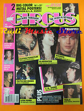 rivista CIRCUS Magazine 9/1990 +POSTER Metallica Slaughter Telsa Poison No cd